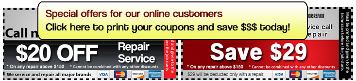 Garage door service coupons